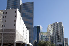 Nice modern  buildings in downtown of city Dallas Stock Photography