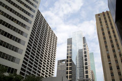 Nice modern buildings in downtown Houston Royalty Free Stock Images