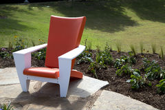 A nice modern design chair outside Stock Image
