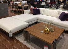 Nice modern furniture sale at market TX Stock Image