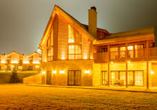 Nice modern house during evening hours Stock Images