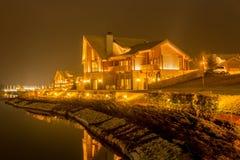 Nice modern house near lake Royalty Free Stock Photo
