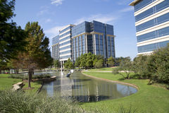 Nice modern office buildings and landscapes design Royalty Free Stock Images