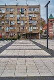 Nice modern view of Nowy Targ square in Wroclaw old town. Wroclaw is the largest city in western Poland. And historical capital of Silesia royalty free stock image