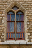 Nice modernist window by Gaudí in the town of Leon Stock Images