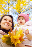 Nice mom with daughter at park Stock Image