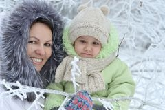 Nice mom and daughter walking Stock Photography