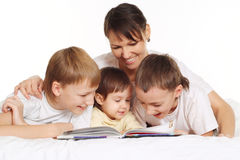 Nice mom with her children Stock Image