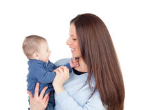 Nice moment of a mother with her baby Royalty Free Stock Photography
