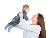 Nice moment of a mother with her baby Stock Photo