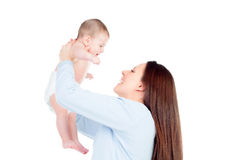 Nice moment of a mother with her baby Stock Image