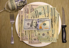 Nice money food Royalty Free Stock Images