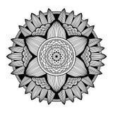 Nice monochrome Vector Mandala. Geometric circle element. Stock Photography