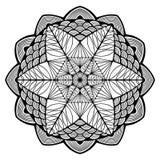 Nice monochrome Vector Mandala. Geometric circle element. Stock Images