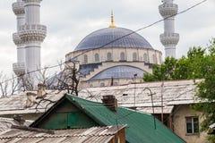 Nice Mosque in the Bishkek. BISHKEK, KYRGYZSTAN - CIRCA JUNE 2017: Mosque in the Bishkek capital of Kyrgyzstan circa June 2017 in Bishkek royalty free stock photography