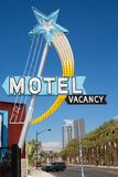 Nice motel sign in Las Vegas Royalty Free Stock Photo