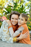 Nice Mother and son Stock Images