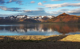 Nice mountain Iceland country. Royalty Free Stock Photo
