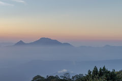 Nice mountain landscape sunset view from Ba Na Hill, Da Nang Vietnam Feb 2017 Stock Image
