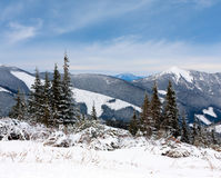 Nice mountain landscape in winter Royalty Free Stock Photography
