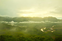 Nice mountain at Luang Prabang, Laos Royalty Free Stock Photo