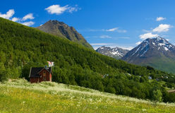 Nice mountain view of Norway. Stock Photo
