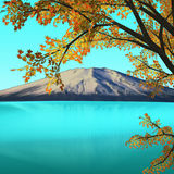 Nice mountain view with reflection Royalty Free Stock Photo