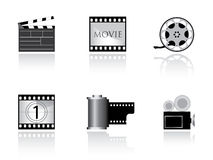 Nice movie icons Stock Photography