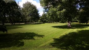 Nice mowed grass. Mowed by me stock images
