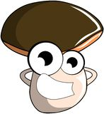 Nice Mushroom cartoon Royalty Free Stock Photos