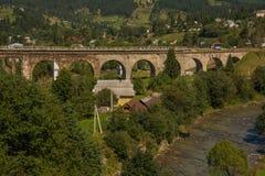 Nice nature in mountains. Bridge. stock image