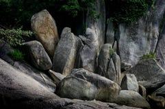 Nice nature rock at island Royalty Free Stock Photos