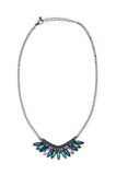 Nice necklace isolated on the white Stock Photo