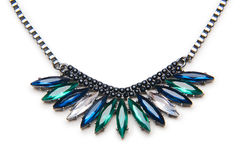 Nice necklace  on the white Stock Images