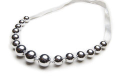 Nice necklace  on the white Royalty Free Stock Photography