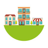 Nice neighborhood street icon Royalty Free Stock Photo