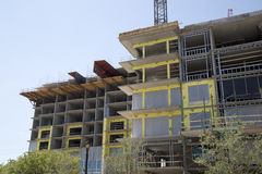 Nice new condo under construction background Stock Photography