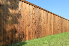 Nice new fence in the yard  background Stock Image