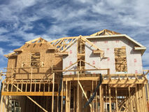 Nice  new  house construction Royalty Free Stock Photos