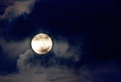 Nice night shot of the full moon Stock Photos