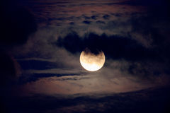 Nice night shot of the full moon Royalty Free Stock Photos