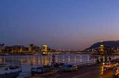 Nice night view on Budapest, Hungary Royalty Free Stock Photography