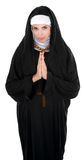 Nice Nun. Nun praying for the well-being of all royalty free stock photography