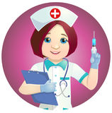 Nice nurse with a syringe Stock Photo