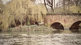Bridge in Sonning Village. Nice old brick bridge in Sonning. Outdoor concept. Reading area stock photos