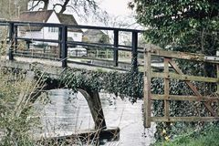 Bridge in Sonning Village. Nice old brick bridge in Sonning. Outdoor concept. Reading area stock photography