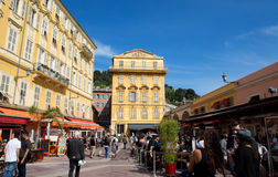 Nice - Old building in the Cours Saleya Royalty Free Stock Images