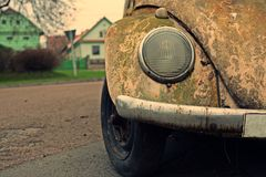 Nice old car with retro effect Royalty Free Stock Image