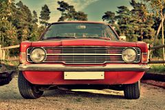 Nice old car with retro effect Royalty Free Stock Photography