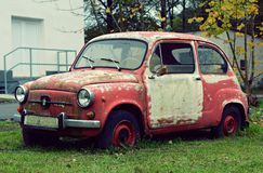 Nice old car in with retro effect Royalty Free Stock Photo